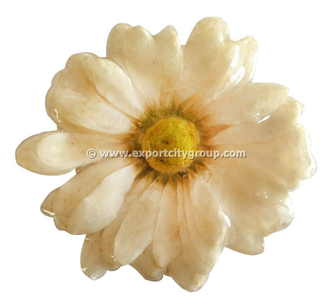 Chrysanthemum Daisy Mum Flower Jewelry pendant (White)