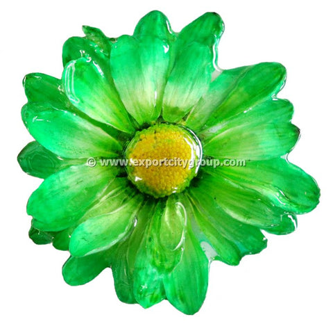Chrysanthemum Daisy Mum Flower Jewelry pendant (Green)