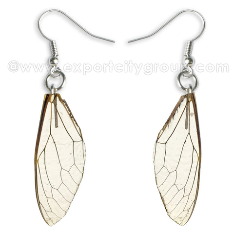 Real Cicadas Insect Wings Earring (Clear)