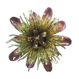 Passiflora Passion Flower Jewelry 2-in-1 pendant/brooch (Purple)
