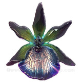 Zygopetalum Real Orchid Jewelry Pendant (Purple)