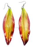 Lily Real Flower Jewelry Earring (Yellow Fuchsia)