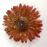 Gerbera Flower Jewelry 2-in-1 pendant/brooch (Brown)