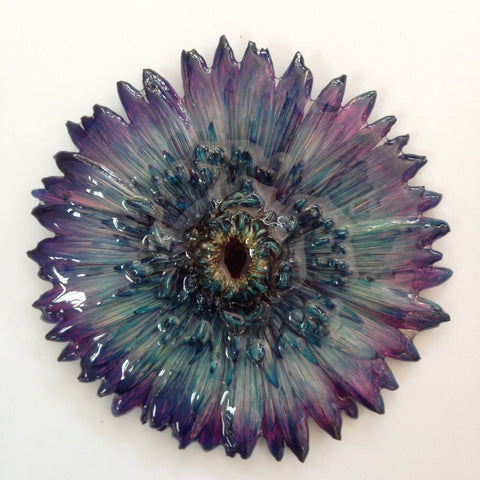 Gerbera Flower Jewelry 2-in-1 pendant/brooch (Purple 2 Tone)
