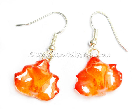 Rhynchocentrum MINI Orchid Jewelry Earring (Orange)
