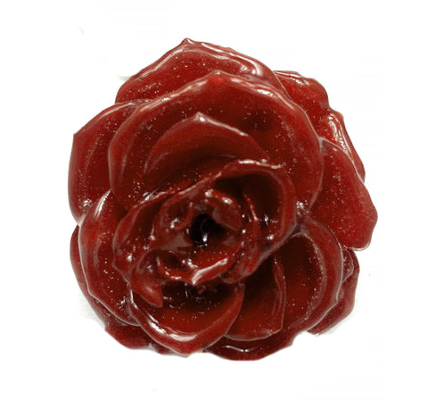 Red Burgundy TEA ROSE Real Flower Jewelry 3D ROSE in RESIN PENDANT or LOOSE PIECE