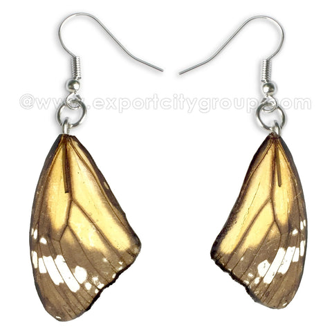 Real Butterfly Wings Jewelry Earring - Monarch natural