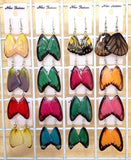 Real Butterfly Wings Jewelry Earring - WG06 Natural