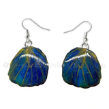 Real Butterfly Wings Jewelry Earring - WG04 Dyed Navy