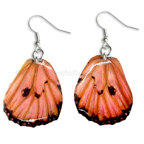 Real Butterfly Wings Jewelry Earring - WG03 Dyed Pink