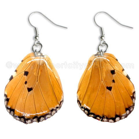 Real Butterfly Wings Jewelry Earring - WG03 Natural