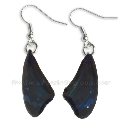 Real Butterfly Wings Jewelry Earring - WG07 Navy