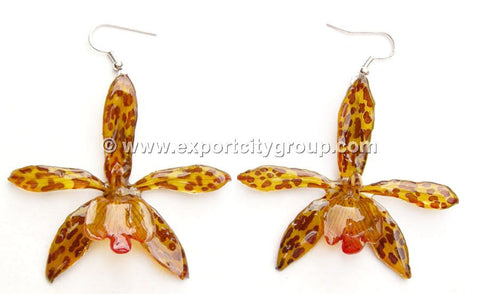 Tiger CAT Tiger Orchid Jewelry Earring (Yellow)