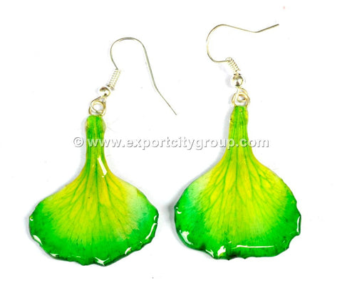 Carnation Flower Jewelry Earring (Green)