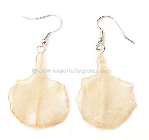 Carnation Flower Jewelry Earring (White)