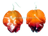 Cattleya Orchid Jewelry LIP Earring (Orange Red)