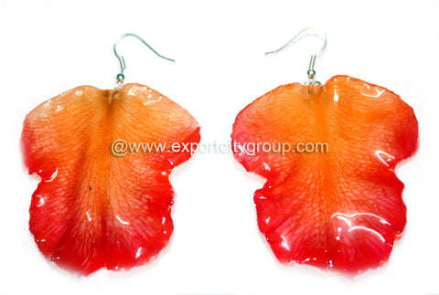 Cattleya Orchid Jewelry LIP Earring (Orange)