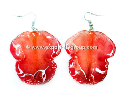 Cattleya Orchid Jewelry LIP Earring (Red)