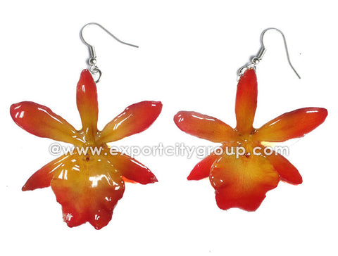 Cattleya Mini Orchid Jewelry Earring (Yellow)