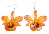 "Chrysotoxum ""Dendrobium"" Orchid Jewelry Earring (Yellow)"