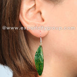 Real Cicadas Insect Wings Earring (Green)