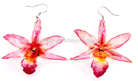 "Draconis ""Dendrobium"" Orchid Earring (Pink)"