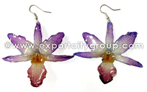 "Draconis ""Dendrobium"" Orchid Earring (Purple)"