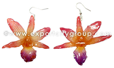 "Draconis ""Dendrobium"" Orchid Earring (Red)"
