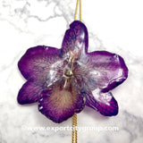 "Nobile ""Dendrobium"" Orchid Jewelry Necklace Slider (Purple)"