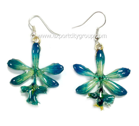 Epidendrum Orchid Jewelry Earring (Blue Turquoise)