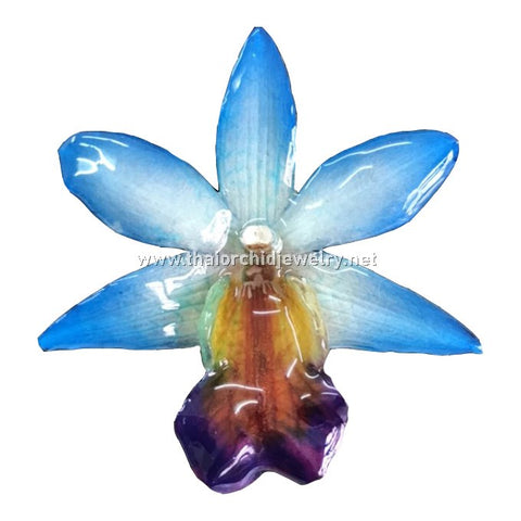 Dendrobium FORMOSUM Orchid PENDANT for DIY jewelry - BLUE