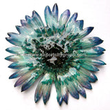 Gerbera Flower Jewelry 2-in-1 pendant/brooch (Blue Turquoise)