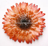 Gerbera Flower Jewelry 2-in-1 pendant/brooch (Orange)
