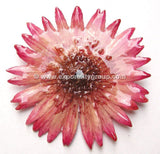 Gerbera Flower Jewelry 2-in-1 pendant/brooch (Pink)