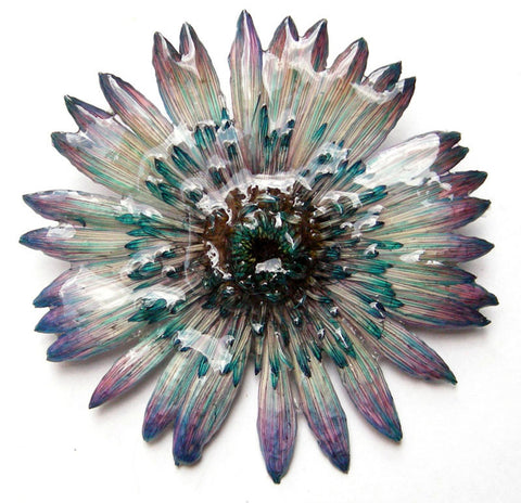 Gerbera Flower Jewelry 2-in-1 pendant/brooch (Purple)
