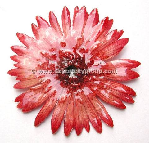 Gerbera Flower Jewelry 2-in-1 pendant/brooch (Red)