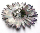 Gerbera Flower Jewelry 2-in-1 pendant/brooch (Green)