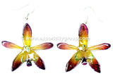 Grammatophyllum Orchid Jewelry Earring (Purple)