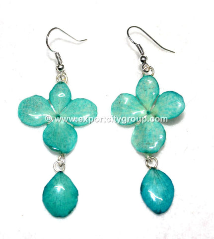 Hydrangea Flower Jewelry Earring (Green Turquoise)