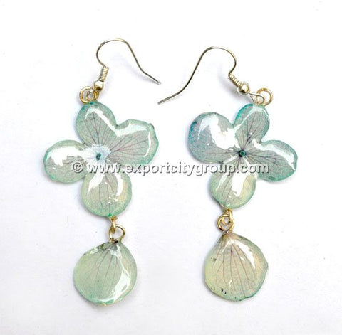 Hydrangea Flower Jewelry Earring (Pale Blue)