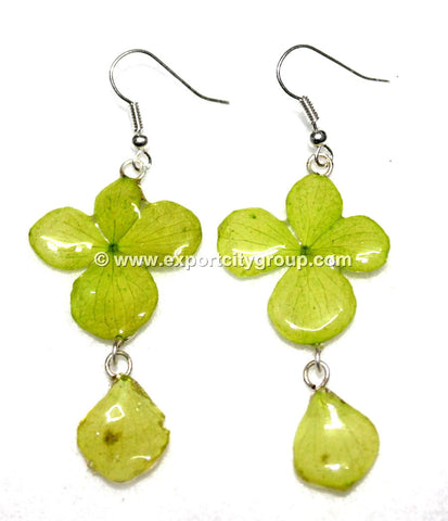 Hydrangea Flower Jewelry Earring (Green)