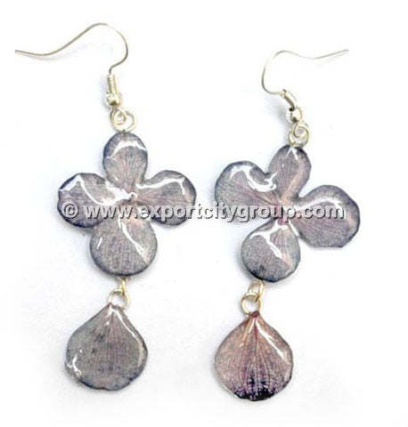 Hydrangea Flower Jewelry Earring (Grey)