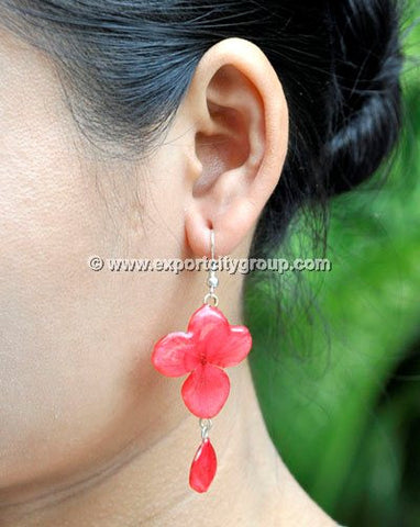 Hydrangea Flower Jewelry Earring (Red)
