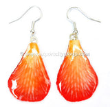 "Lucy ""Dendrobium"" Orchid Petal Earring (Orange)"