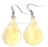 "Lucy ""Dendrobium"" Orchid Petal Earring (White)"