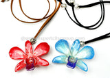 "Lucy ""Dendrobium"" Orchid Pendant (Hot Red)"