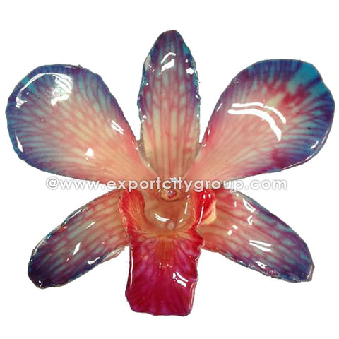 "Lucy ""Dendrobium"" Orchid Pendant (Red / Blue)"