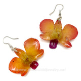 "Mini ""Diamond"" Dendrobium Orchid Earring (Yellow)"