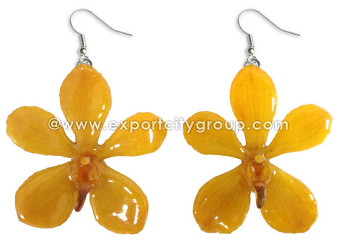 Mokara Orchid Jewelry Earring (Yellow)