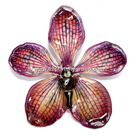 Mokara Orchid Jewelry Pendant (Purple)